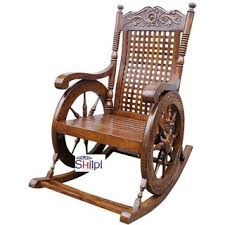wooden rocking chair. Modren Rocking Shilpi Aamazing Hand Carved Rocking Chair Wooden Grandpaa Inside Wooden
