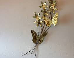 vintage copper wall flowers butterflies dogwood flower wall sculpture butterfly wall art vintage butterfly gold hollywood regency on vintage metal wall art gold with vintage 3d wall art kids etsy