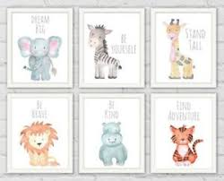 nursery wall art baby animals