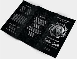 Funeral Brochure Templates Free Download Memorial Service Booklet ...