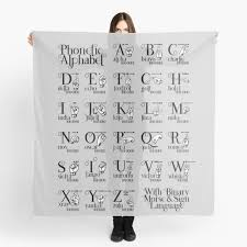 The cambridge dictionary uses international phonetic alphabet (ipa) symbols to show pronunciation. Phonetic Alphabet Sign Scarves Redbubble