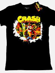 Primark T Shirt Size Chart Crash Bandicoot Game Official Activision T Shirt Blk Cotton