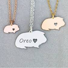 personalized guinea pig necklace guinea pig gift cute pet unique gifts jewelry pendant dropship accepted yp6059 in pendant necklaces from jewelry