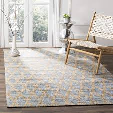 Light Blue And Gold Rug Safavieh Cape Cod Collection Cap413a Hand Woven Geometric Light Blue And Gold Jute And Cotton Area Rug 9 X 12