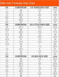 Nike Youth Size Chart Nike Youth Sneaker Size Chart Best Picture Of Chart