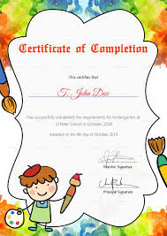 Preschool Diploma Template Certificate Samples For Kindergarten Prediploma Completion