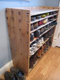 vertical wooden shoe rack designs