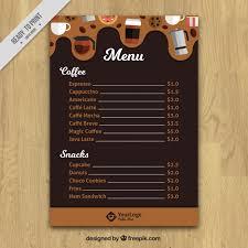 Cafe Menu Template Vector Free Download