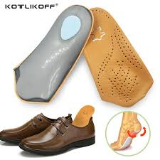 2019 kotlikoff 3 4 length leather insole flat foot orthotic insoles arch support 2 5cm half shoe pad orthopedic insoles foot care from xiamenshoes