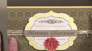 Happiest Birthday Card with Donna Griffith - YouTube