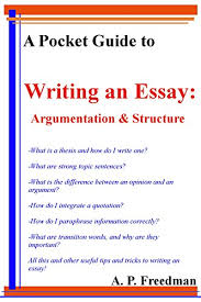 Strong Essay A Pocket Guide To Writing An Essay Argumentation And Essay