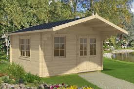 Holz Gartenhaus Mit Vordach Marcus B 14 5m 58mm 4x4
