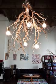 Branch Chandelier Twisted Willow Sprayed White Twisted Willow Pinterest Diy