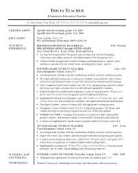 Education Resumes Examples Magnificent Teacher Sample Resume Kappalab