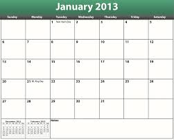 Calendar 2013 Template Printable Pdf 2013 Monthly Calendar Within Monthly Calendar
