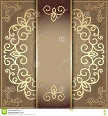 Golden Invitation Card Design Stylish Invitation Card Elegant Golden Design Stock Vector