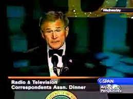 George W. Bush - jokes about weapons of mass destruction .flv - YouTube