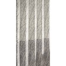 allen roth polyester gray patterned shower curtain