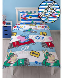 peppa pig george sd single duvet cover and pillowcase set