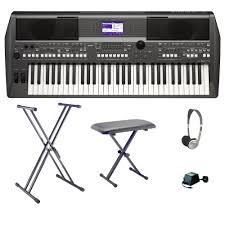 yamaha keyboard. yamaha psr s670 workstation keyboard bundle