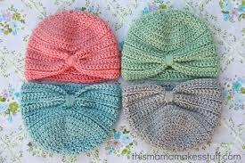 Baby Beanie Crochet Pattern Simple Crochet Baby Turban Pattern Tutorial This Mama Makes Stuff