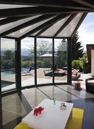 Modern Glass Veranda With Pool Design