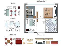 creative furniture icons set flat design. projection and furniture icons graphics creative set flat design r