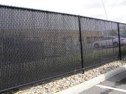 black chain link fence with privacy slats.  Link Awesome Chain Link Fence Privacy Slats Intended Black With