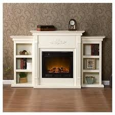 free standing electric fireplace mantle media tv storage stand with decorations 3