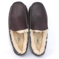 new ugg ascot leather slipper wide width