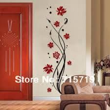 new 2016 style 3d best acrylic pant wall art sticker decor crystal living room tv wall flower romantic personality wall stickers stickers on walls stickers