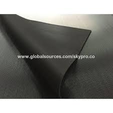 china anti slip rubber flooring mats corrugated stripe pattern surface rubber sheet rolls
