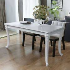 vidaxl high gloss white dining dinner table dining room kitchen home furniture