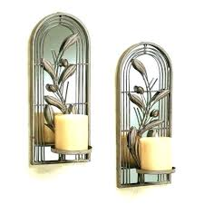 sconce candle holder mirrored bronze wall holders silver mirror antique sconces pillar candl