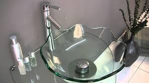 glass bathroom faucets. Fresca Netto Modern Glass Bathroom Vanity W/ Wavy Edge Vessel Sink - FVN1036 YouTube Faucets C