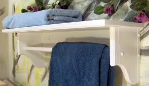 wood towel bar. White Shelf With Towel Bar Wood