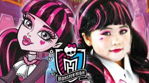 kids draculaura monster high doll costume makeup inspire look tutorial for 2016