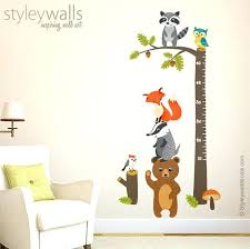 inspiring ideas woodland wall decor room decorating animals growth chart decal forest like this item imports