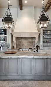 Beautifully faux finished kitchen cabinets in a blended French country  kitchen style with Old World charm and a few transitional kitchen design  ideas.