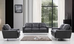 your bookmark s 3 222 00 divani casa empire modern dark grey leather sofa set