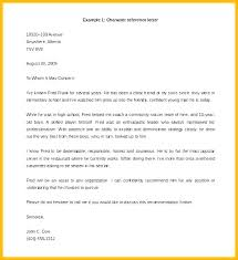 Example Character Reference Letter Sample Character Reference Letter