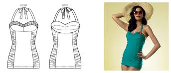 One Piece Swimsuit Pattern Cool Design
