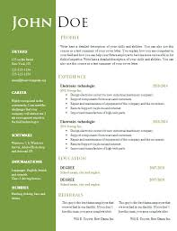 Creative Resume Templates Word Archives 1080 Player