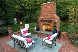 picturesque brick outdoor fireplace outdoor brick fireplace deck traditional with furniture pendant lights diy brick outdoor