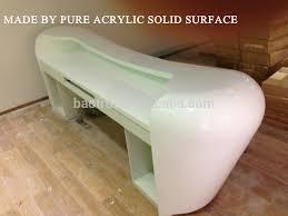 strict quality control modern furniture retail nail salon semi circle reception desk