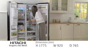 Top Ten Side By Side Refrigerators Hitachi Side By Side Refrigerator R S700gpru2blk Youtube