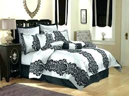 damask bedding sets large size of dramatic black and white comforter set combine gray quilt blue