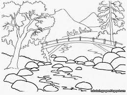 Farm Scenery Drawings Gardening Coloring Pages