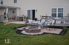 patio with fire pit. DIY Outdoor Fire Pit Patio With M