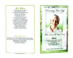 Free Funeral Program Template Publisher Editable Microsoft